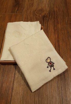 ☆°萊亞生活館 ° 30025 ROBOT紗布提花小手巾-機器人 小毛巾 小手帕  100%有機棉 台灣製造