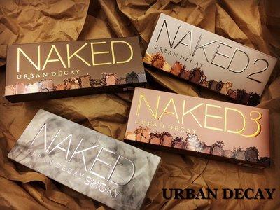【愛來客】 美國 Urban Decay Naked 第1. 2. 3 代 .煙燻盤 12色裸妝大地色眼影盤