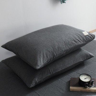 【ulker_801營業中】一對裝純棉枕套成人枕頭套大號單人枕用全棉枕芯套女學生