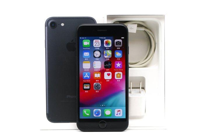 【高雄青蘋果】APPLE IPHONE 7 128G 128GB 4.7吋 消光黑 IOS 12.3.1 #40893