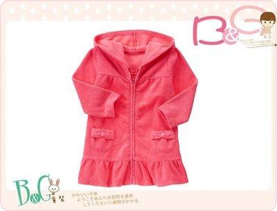 【B& G童裝】正品美國進口GYMBOREE Terry Swim Cover-Up口袋粉紅色泳裝罩衣3,5yrs