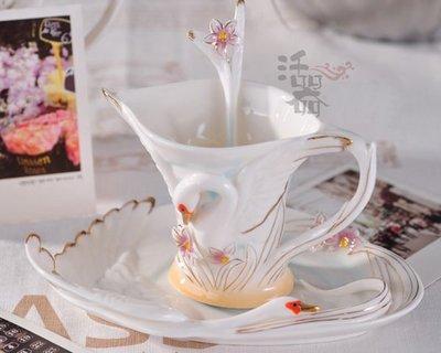 天鵝愛情侶水杯 歐式 韓國創意咖啡杯 情侶禮品套裝陶瓷杯具