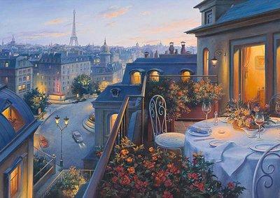 歐洲進口拼圖 SCH 繪畫風景 法國巴黎的午後 Lusphin 1000片拼圖 59562