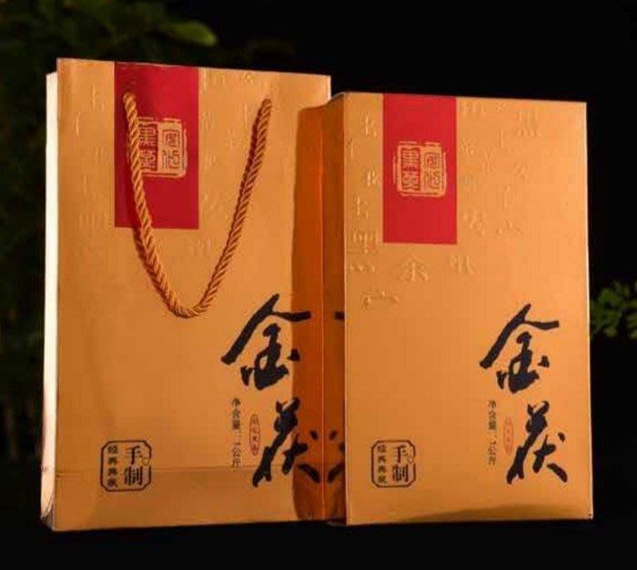 [茶太初] 2011 湖南安化 野生 金花原葉 手築茯磚 黑茶 1KG