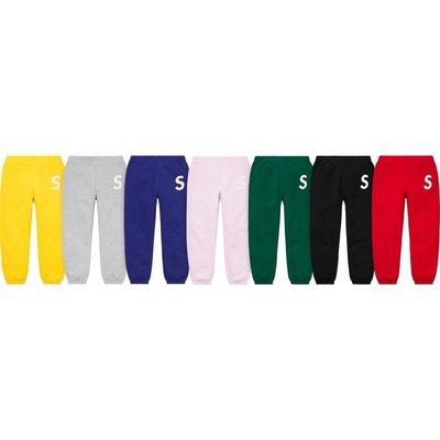 【美國鞋校】現貨/預購 Supreme SS20 S Logo Sweatpant 長褲