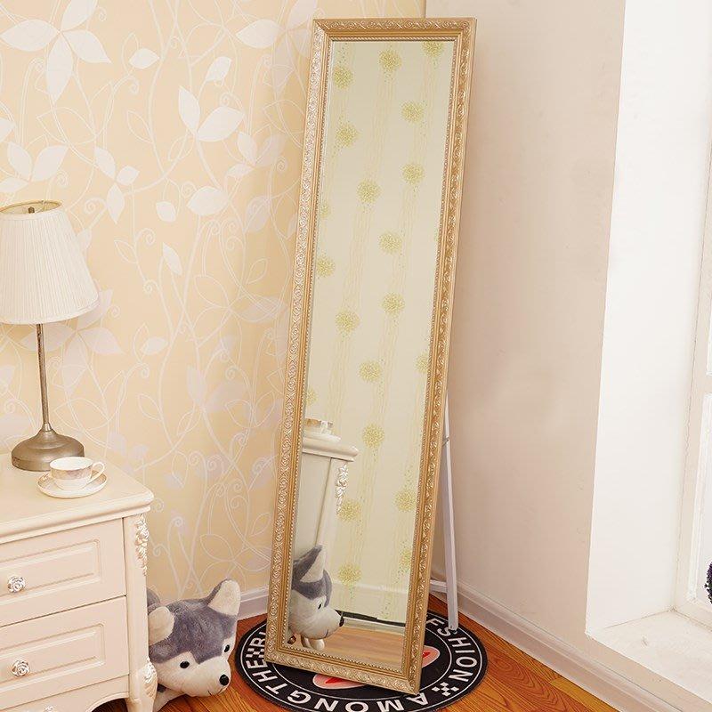 復古鏡臥室簡易家用公主鏡簡約實木穿衣鏡全身大號立式境子照衣鏡小豬佩奇