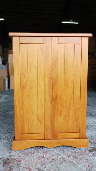美生活館--鄉村家具訂製 紐松全原木柚木色 雙門收納櫃 鞋櫃 置物櫃 隔間櫃 高低櫃 書櫃 也可修改尺寸與顏色