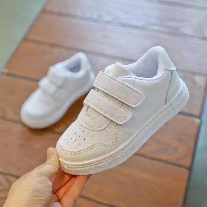 中大童兒童春秋季鞋子小白鞋男童透氣軟底板鞋女童休閑鞋寶寶鞋子