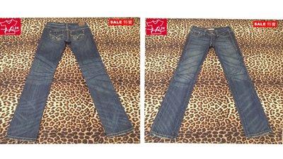 百貨專櫃品牌-LEVIS 牛仔褲 窄直筒 中性款-女款-24腰【JK嚴選】LV 太陽的後裔