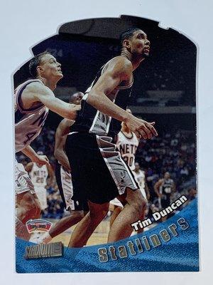 1998-99 Topps Stadium Club Statliners #S4 Tim Duncan Spurs