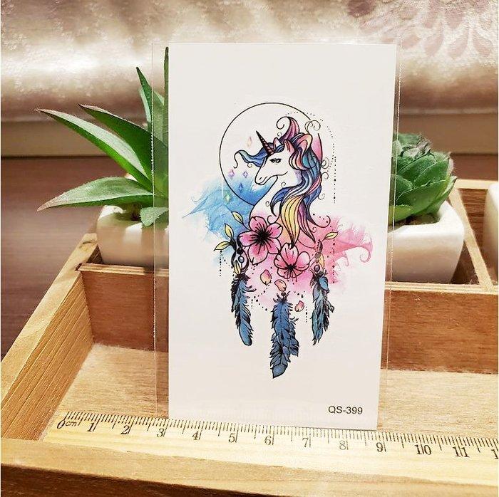 【萌古屋】獨角獸 - 男女防水紋身貼紙刺青貼紙QS-399 K12