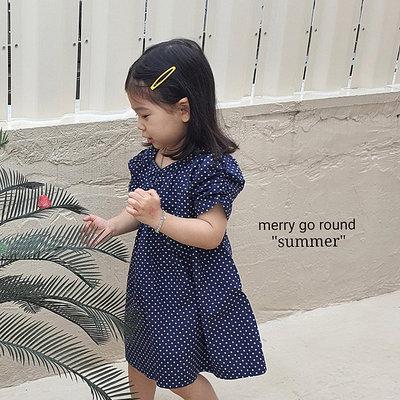 3~13 ♥洋裝(NAVY) MERRY GO ROUND-2 21夏季 MGR210519-030『韓爸有衣韓國童裝』~預購