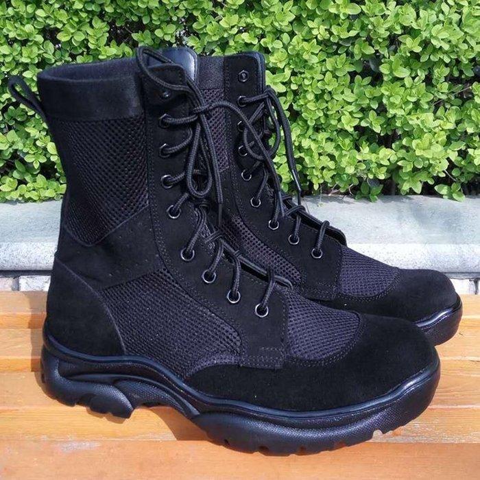 軍靴 作戰靴夏季輕便網眼透氣高筒沙漠軍靴男特種兵減震戰術登山靴JD