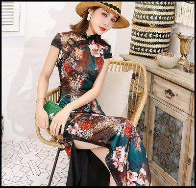 【Fashion歐洲站】時尚旗袍女改良軍閥太太復古中國風長款氣質優雅少女連衣裙