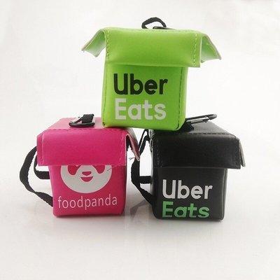 全新商品~外送Uber eats 吊飾 小包吊飾 小外送包 小包 零錢包 鑰匙包(黑色款)