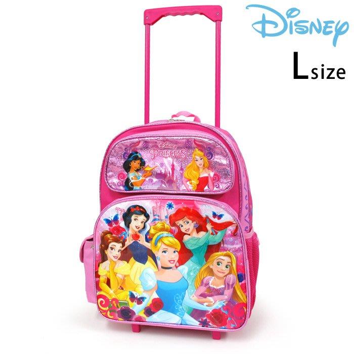 《FOS》日本 迪士尼 公主系列 兒童 後背包 滾輪 書包 拉桿 行李 大容量 小學 孩童 小孩 開學 上課 禮物 新款