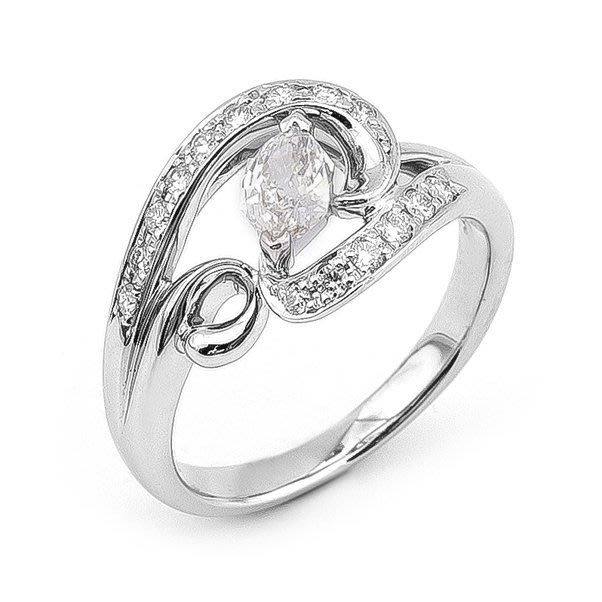 【JHT 金宏總珠寶/GIA鑽石專賣】0.332ct天然鑽石戒指/材質:PT900(JB39-B03)