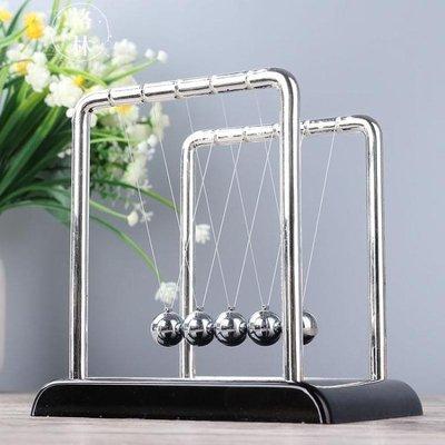 推薦牛頓擺球撞球永動碰碰辦公室桌面擺件創意家居裝飾工藝品禮物GLSJ3804