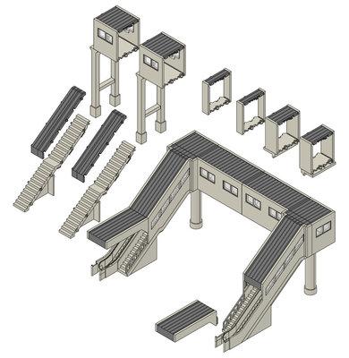 [玩具共和國] TOMIX 4074 マルチ跨線橋セット