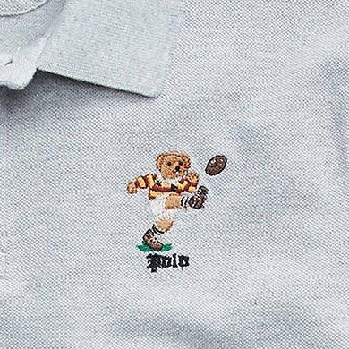 Ralph Lauren POLO 限量polo熊 青年款 polo衫 現貨 灰/足球熊
