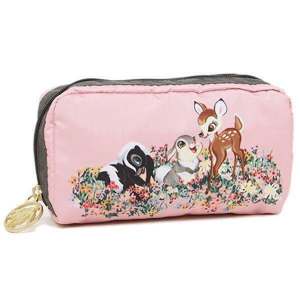 Lesportsac x Bambi 粉色小鹿花園 6511 化妝包 收納 限量