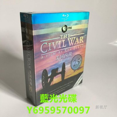 紀錄片藍光碟BD 美國內戰 The Civil War 高清收藏版5碟裝 中字字幕 全新盒裝