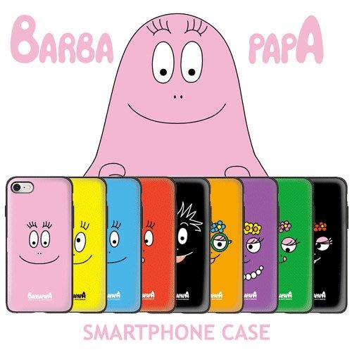 BARBAPAPA 泡泡先生 防摔掀蓋卡夾 手機殼│S7 Edge S8 S9 Plus│z8711