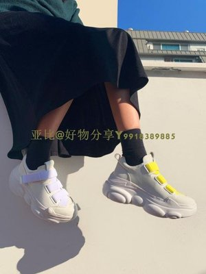 韓國 Jinny Kim Bandy 魔術貼 小熊鞋底 桃心 厚底老爹鞋 5色