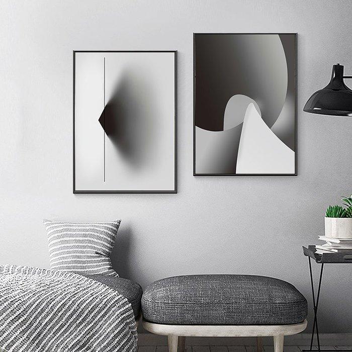 ins北歐現代簡約多色紋彩個性抽像水彩裝飾畫(5款可選)