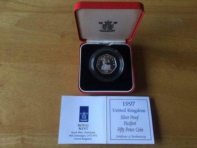 英國 1997 50 pence 加厚幣