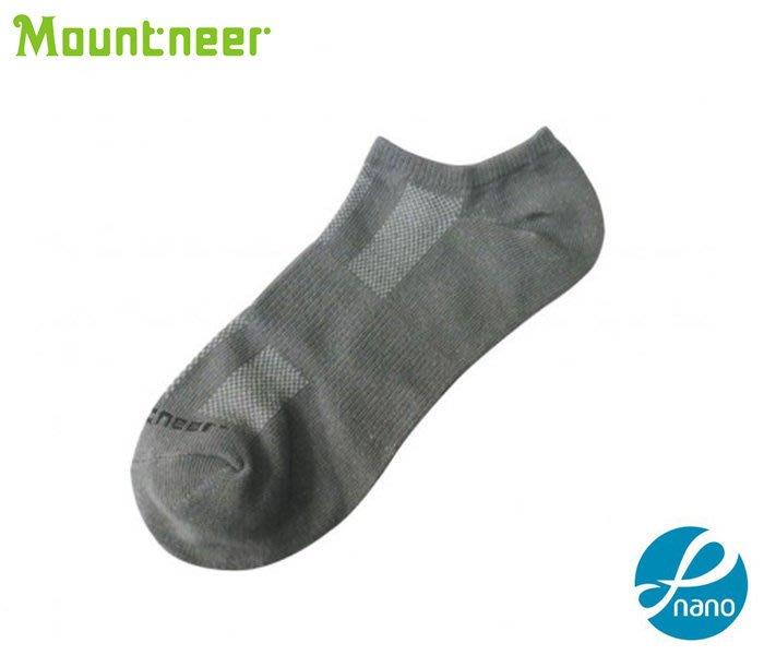 丹大戶外【Mountneer】山林休閒 奈 米礦物能透氣船襪 11U03-07 灰色