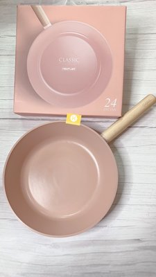 [現貨] 韓國直進 大廠 Neoflam CLASSIC 粉粉紅系列24cm平底煎鍋 陶瓷塗層 不沾鍋