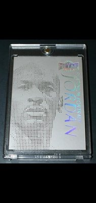 Michael Jordan platinum portrait