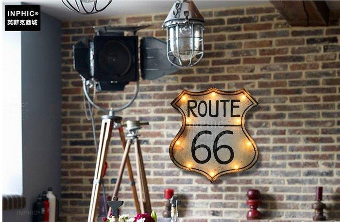 INPHIC-美式發光燈家居個性咖啡店裝飾品發光燈鐵藝壁飾牆飾_S01902C