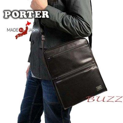 巴斯 日標PORTER屋-二色預購 PORTER AMAZE 牛革斜背包-縱型 022-03792