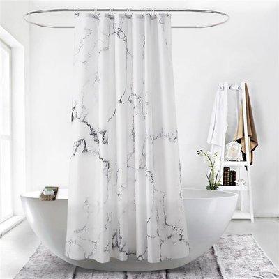 浴簾B10Creative marble Waterproof polyester shower curtain OTR1
