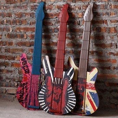 掛飾 壁掛 擺件-復古做舊吉他立體居家擺飾用品3款73a1[獨家進口][巴黎精品]