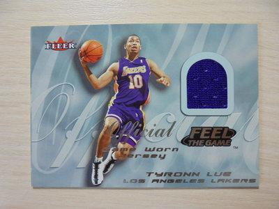 2000-01 Fleer Feel the Game Game Worn Jersey 球衣卡 Tyronn Lue