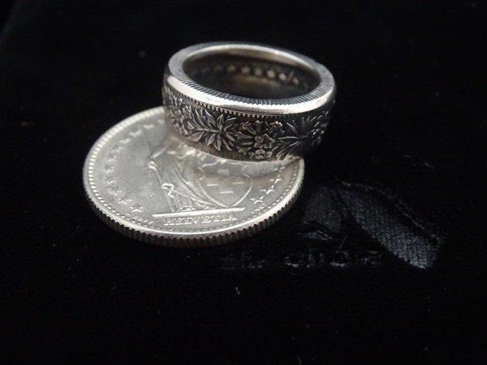 ao.circle 奢扣 手工客製 瑞士 法郎 錢幣 硬幣 桂冠 手工戒指