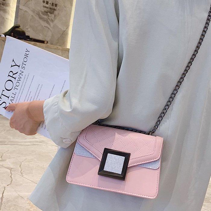 上新小包包女包新款2019流行時尚夏季菱格鏈條個性單肩斜挎小方包 一品閣〗