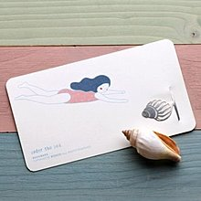 【象牙cute ta】韓國 Bookfriends girl's summer _ sound of the sea 書的朋友書籤 海的聲音