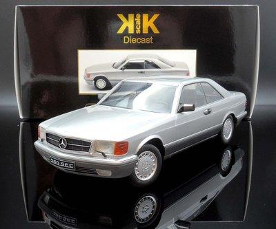 【M.A.S.H】現貨特價 KK scale 1/18 Mercedes-Benz 560 SEC C126 銀