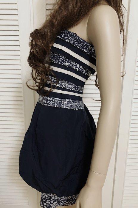 BCBG 亮片平口洋裝