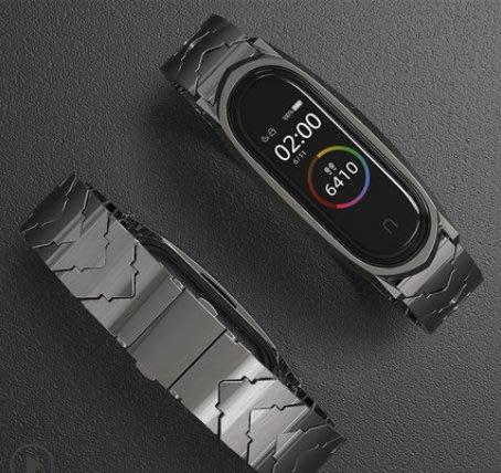 小米手環4/5腕帶 小米手環3nfc版替換帶 小米2二三四五代智能運動金屬不銹鋼尼龍帶限量版個性定制潮真皮錶帶