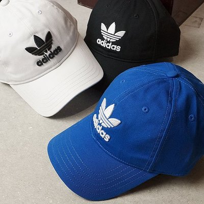 【吉米.tw】現貨 Adidas Originals 帽子 黑 白logo 三葉草 老帽 BK7277 BR0436