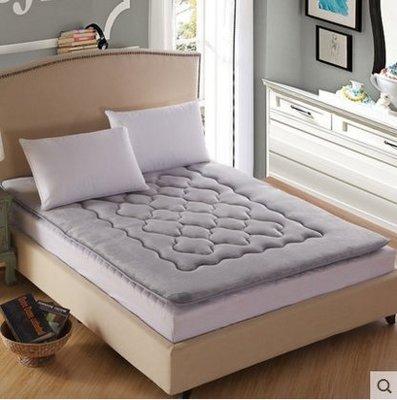 珊瑚絨榻榻米床墊加厚1.5m1.8米保暖雙人床褥子單人墊被【灰色(床墊)】1.5m(5英尺)床
