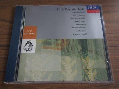 ◎MWM◎【二手CD】Great Operatic Duets 內圈德版, 無ifpi, 脫銀不影響播放