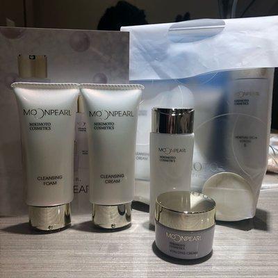 全新  MIKIMOTO 御木本 卸妝乳30g+洗面乳30g+深層潤澤化妝水30ml+乳霜 旅行組