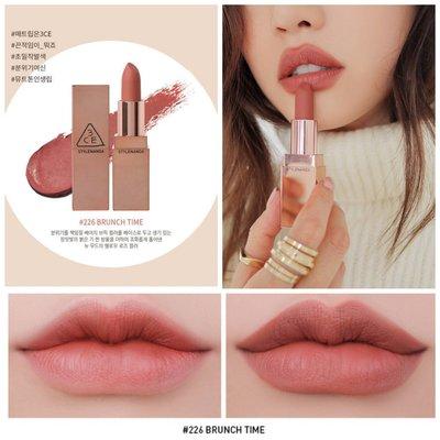 #228現貨 短期【韓羽代購】韓國 3CE  LILY MATTE MAYMAC 玫瑰金唇膏