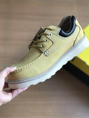 CAT卡特 工裝靴 戶外休閒系列 黃色 低幫 情侶款 平底鞋 男鞋 女鞋